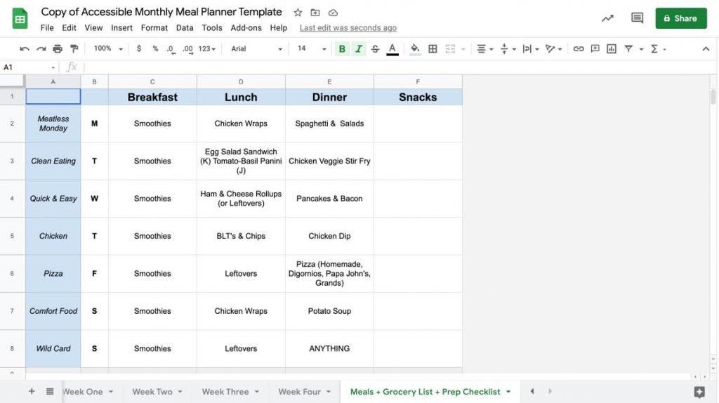 Google sheet templates